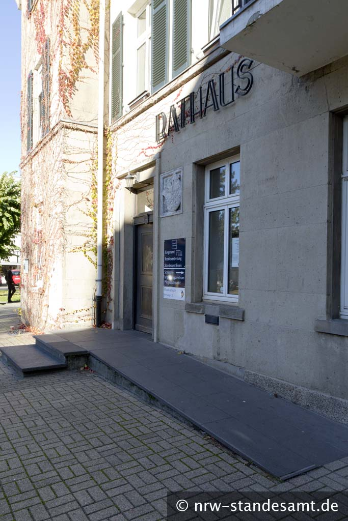 Standesamt in Essen Kettwiger-Rathaus